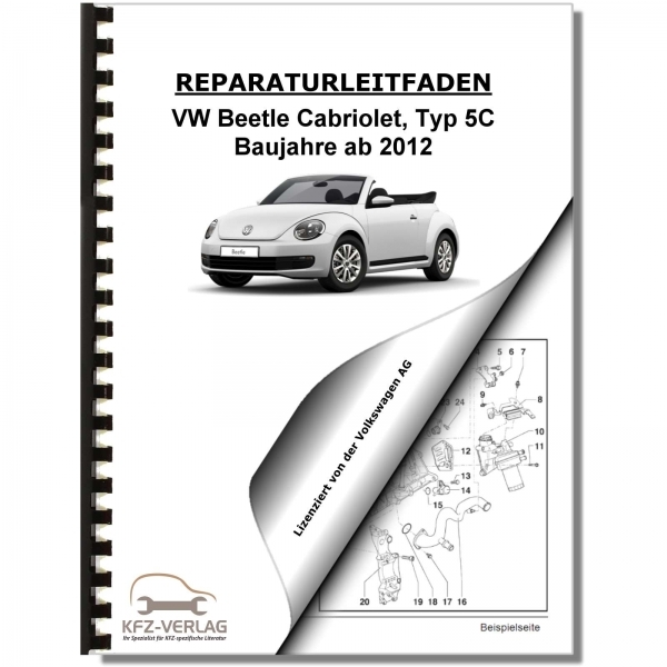 vw beetle cabrio typ 5c 12 inspektion wartung pflege. Black Bedroom Furniture Sets. Home Design Ideas