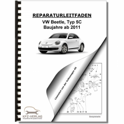 VW Beetle, Typ 5C (11>) Automatikgetriebe 09G - Reparaturanleitung