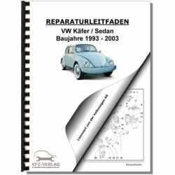 VW Käfer, Sedan (93-03) Inspektion, Wartung, Pflege - Reparaturanleitung