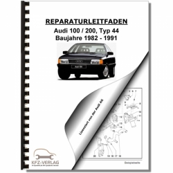 Audi 100/200 type 44 (82-91) Petrol injection / ignition system 2,3l 1136 HP - Repair Manual