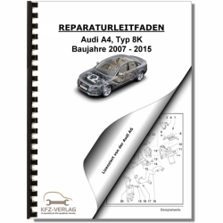 Audi A4, Typ 8K (07-15) Multitronic Getriebe 0AW Frontantrieb Reparaturanleitung