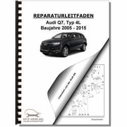 Audi Q7, Typ 4L (05-15) 6 Gang Automatikgetriebe 0AT 4WD - Reparaturanleitung