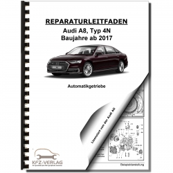Audi A8 type 4N from 2017 8 speed automatic gearbox 0D6 repair manual