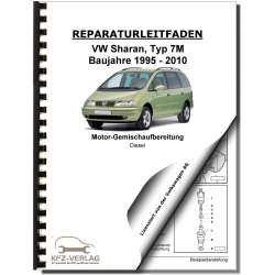 VW Sharan 7M (95-10) diesel injection glow plug system 90-110 hp repair manual