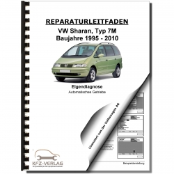 VW Sharan 7M (95-10) Self-diagnosis automatic transmission 009 4WD repair manual