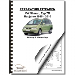 VW Sharan type 7M (95-10) heating ventilation and air conditioning repair manual