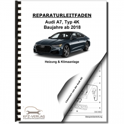 Audi A7 type 4K from 2018 heating ventilation and air conditioning repair manual