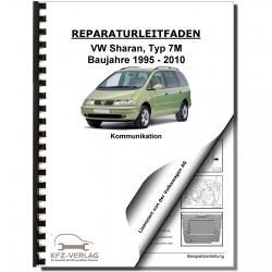 VW Sharan type 7M (95-10) radio telephone navigation communication repair manual