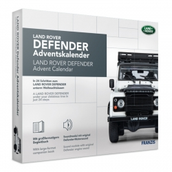 Land Rover Defender model car model building advent calendar Franzis Verlag