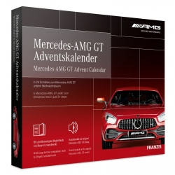 Mercedes AMG GT model car model building advent calendar Franzis Verlag
