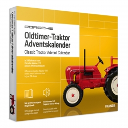 Porsche Olttimer Tractor model car model building advent calendar Franzis Verlag