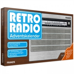 Retro radio technology fun model building set advent calendar Franzis Verlag