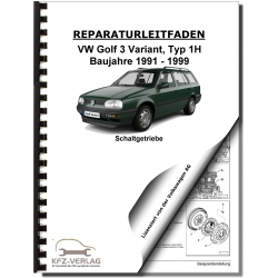VW Golf 3 Variant (91-99) 5 speed manual gearbox 02A clutch repair manual