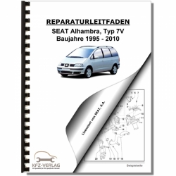 SEAT Alhambra Type 7V (95-10) 4 Cylinder 1,9l diesel engine TDI 90/110 HP - Repair Manual