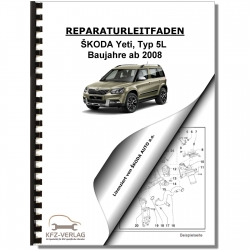 SKODA Yeti Type 5L (09>) Maintenance - Repair Manual